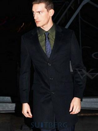 897bd401ad60 Пальто мужское Addison Digel Slim Fit, черное